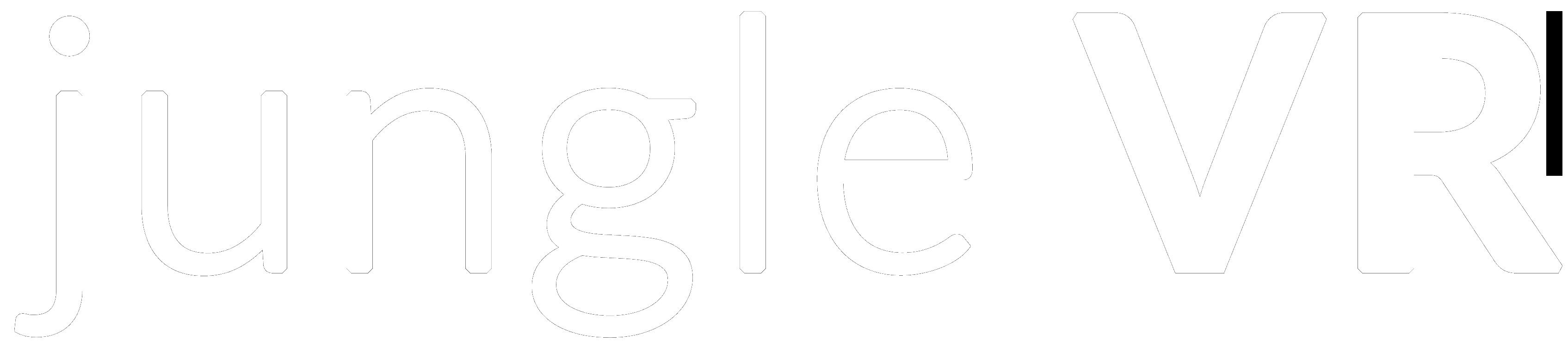 logo Jungle VR blanc